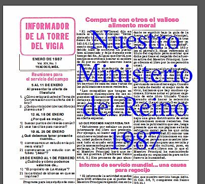 Nuestro Ministerio del Reino 1987