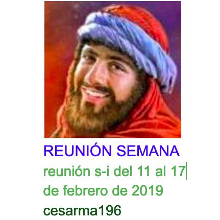 reunion s-i del 11al 17 de febrero de 2019