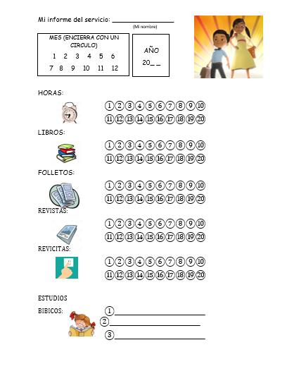 informe de el servicio del campo para niños