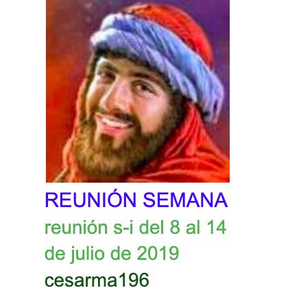 Reunion s-i del 8 al 14 de julio de 2019