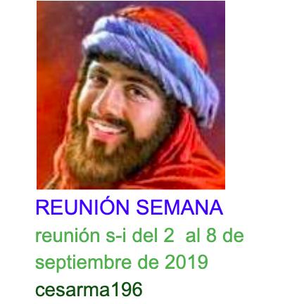 reunion s-i del 2  al 8 de septiembre de 2019