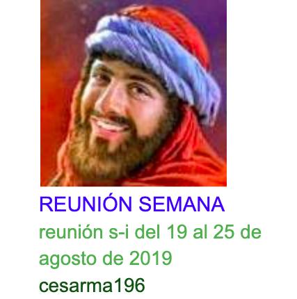 Reunion s-i del 19 al 25 de agosto de 2019