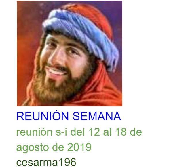 Reunion s-i del 12 al 18de agosto de 2019
