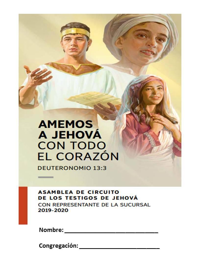Cuaderno para Asamblea de Circuito 2019-2020 (Con Representante de Sucursal)