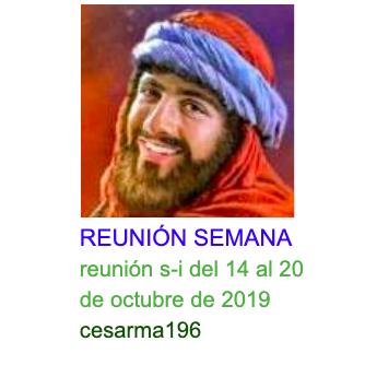 Reunion s-i del 14 al 20 de octubre de 2019