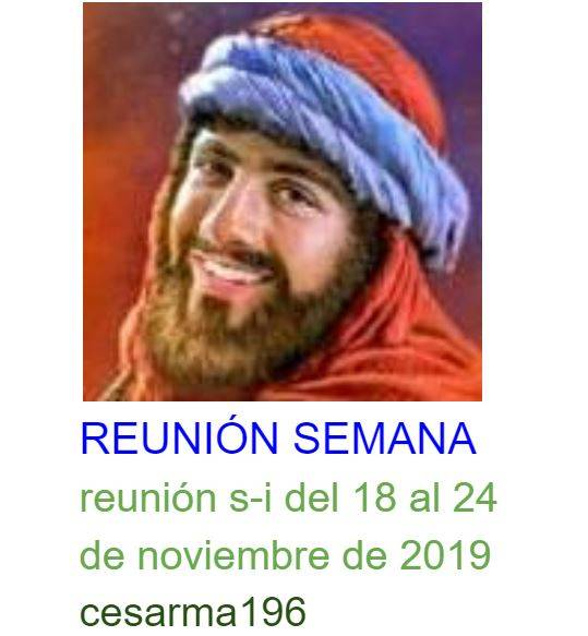 Reunion s-i del 18al 24de noviembre de 2019