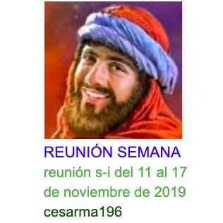Reunion s-i del 11 al 17 de noviembre de 2019