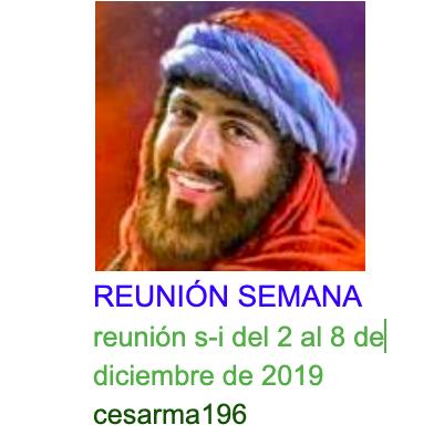Reunion s-i del 2al 8 de diciembre de 2019