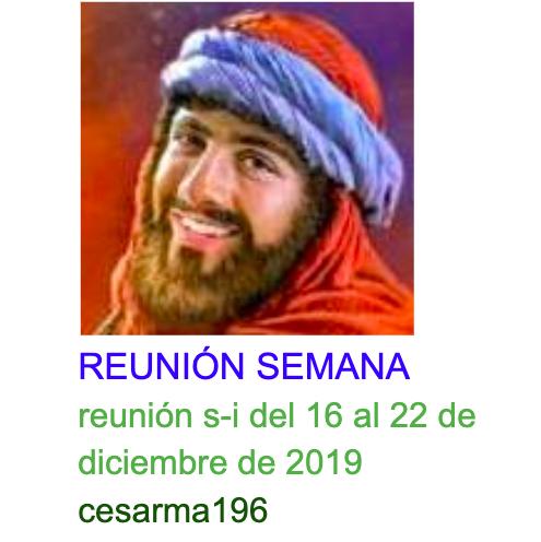 Reunion s-i del 16 al 22 de diciembre de 2019