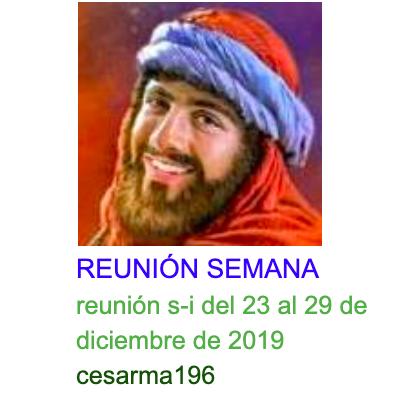 reunión s-i del 23 al 29 de diciembre de 2019