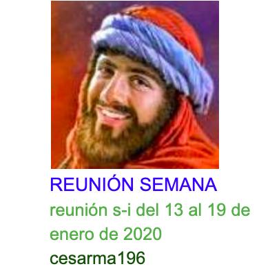 Reunion s-i del 13al 19 de enero de 2020