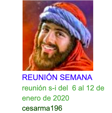 Reunion s-i del 6 al 12 de enero de 2020