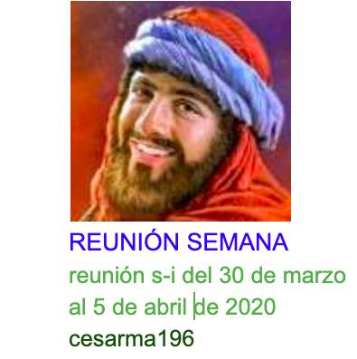 Reunion s-i del 30 de marzo al 5 de abril de 2020