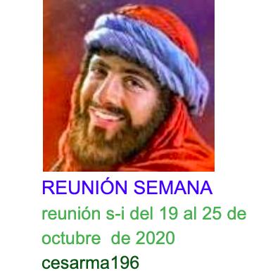 Reunion s-i del 19 al 25 de octubrede 2020