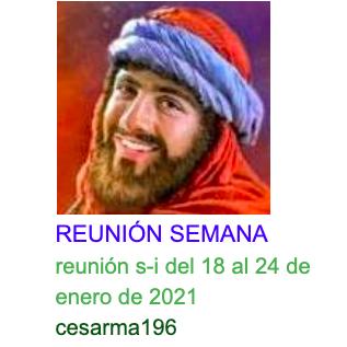 Reunion s-i del 18 al 24 de enero de 2021