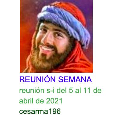 Reunion s-i del 5al 11 de abrilde 2021