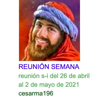 Reunion s-i del 26 de abril al 2 de mayo de 2021