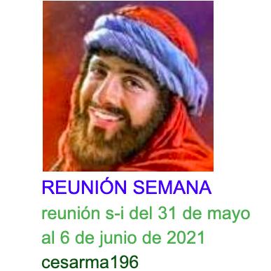 Reunion s-i del 31 de mayo al 6 de junio de 2021